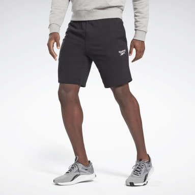 Men Casual Black Reebok Identity Shorts