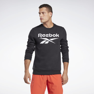 Mænd Fitness & Training Black Reebok Identity Fleece Crew Sweatshirt