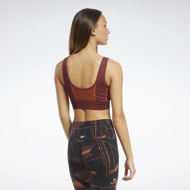 Women Yoga Burgundy Meet You There Low-Impact Bra