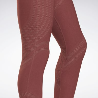 Frauen Studio Les Mills® Seamless Leggings Rot