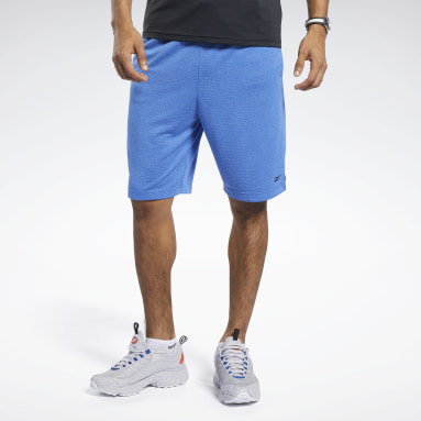 Men Training Blue Workout Ready Melange Shorts