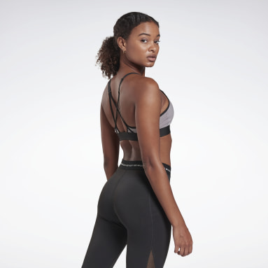Women Studio Grey LES MILLS® Lux Medium-Impact Strappy Bra