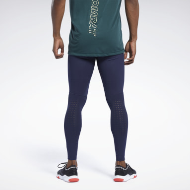 Legging de compression Les Mills® Blue Hommes Studio