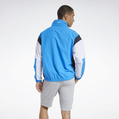 Men Training Blue Training Essentials Linear Logo Jacket