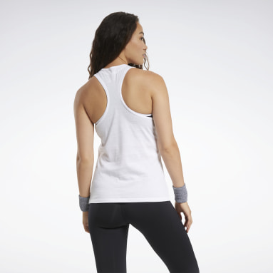 Women Fitness & Training White Training Essentials Graphic Tank Top