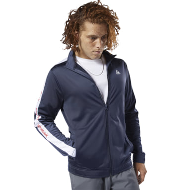 Campera Training Essentials Linear Logo Azul Hombre Fitness & Training