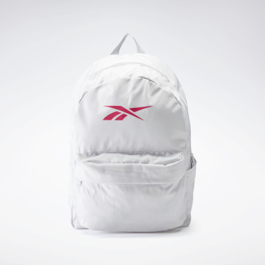 Fitness & Training White Linear Logo Backpack