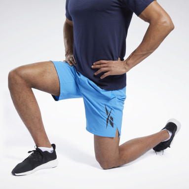 Men Training Blue Textured Epic Shorts