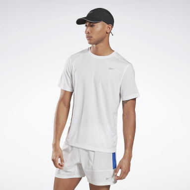 Men Running White Running Essentials Tee