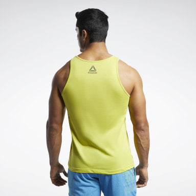 Men CrossFit Yellow Reebok CrossFit® Games Logo Tank Top