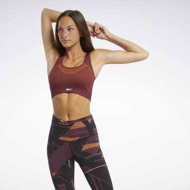 Women Training Burgundy Meet You There Low-Impact Bra