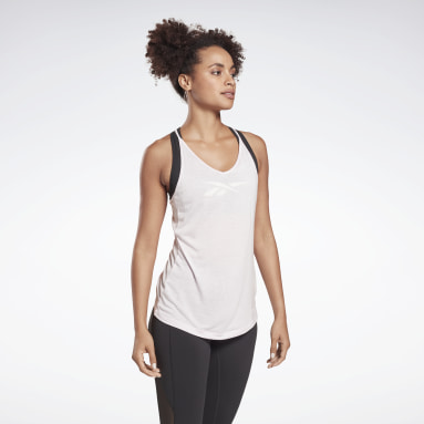 Women Yoga Pink Studio Ribbed Tank Top