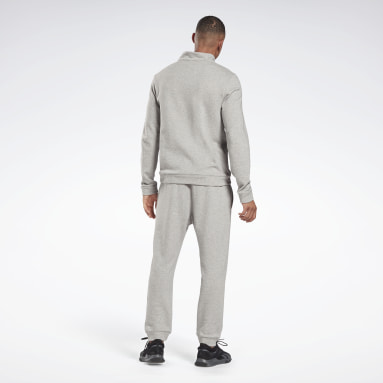 Men Fitness & Training Grey Training Essentials Linear Logo Track Suit