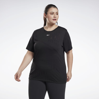 Frauen HIIT Burnout T-Shirt (Plus Size) Schwarz