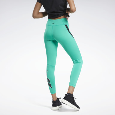 Women Training Green Workout Ready Vector Leggings