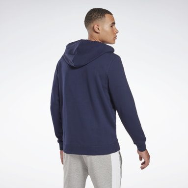 Felpa con cappuccio Reebok Identity Zip-Up Blu Uomo Fitness & Training