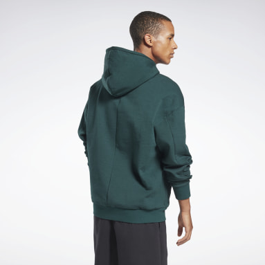 Men Fitness & Training Green DreamBlend Cotton Hoodie