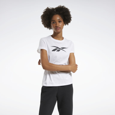 T-shirt Training Essentials Vector Graphic Bianco Donna Fitness & Training