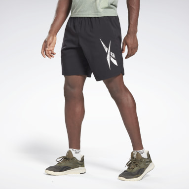 Heren HIIT Zwart Workout Ready Graphic Short