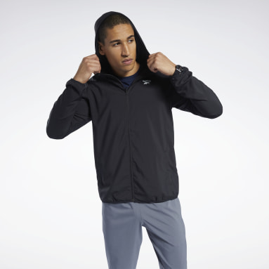 Men Hiking Black Training Essentials Jacket