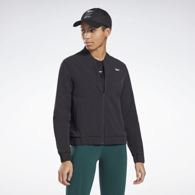 Women Hiking Black Performance Track Jacket