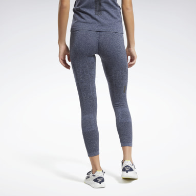 Mallas United by Fitness MyoKnit Seamless 7/8 Azul Mujer HIIT