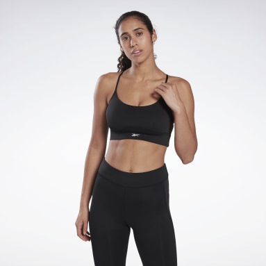 Women Cycling Black Workout Ready Low-Impact Tri Bra