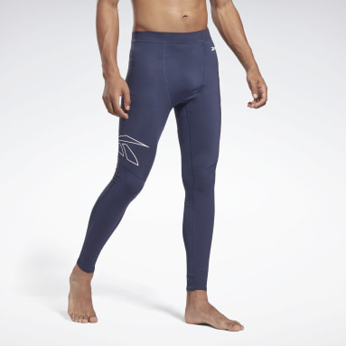 Men HIIT Blue United by Fitness Compression Tights