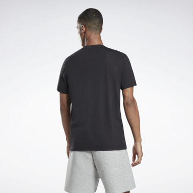 Men HIIT Black Graphic Series Reebok Stacked Tee