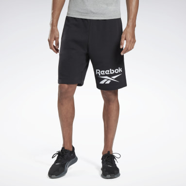 Men Fitness & Training Black Reebok Identity big Logo Shorts