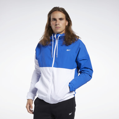 Men Fitness & Training Training Essentials Linear Logo Windbreaker