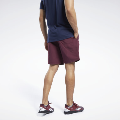 Men Training Burgundy Training Essentials Utility Shorts