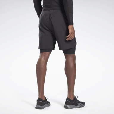 Shorts Epic 2 en 1 Negro Hombre Fitness & Training