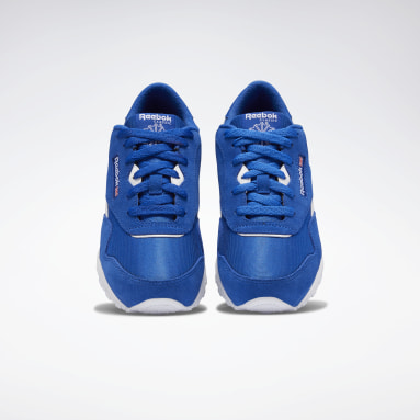 Boys Classics Blue Classic Nylon Shoes - Grade School