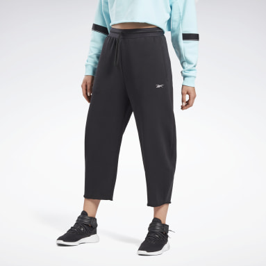 Women Pilates Black Studio Fleece Pants