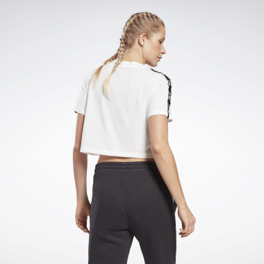 Camiseta Training Essentials Tape Pack Blanco Mujer Dance
