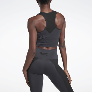Crop Top VICTORIA BECKHAM Gris Mujer Fitness & Training