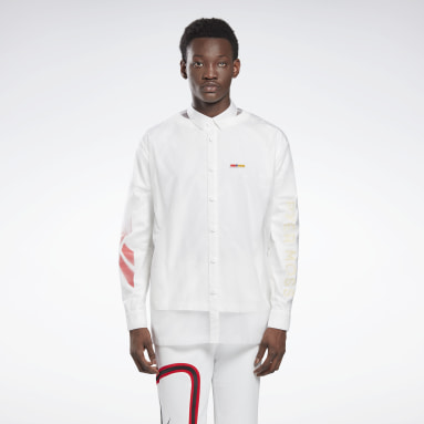 Classics White Reebok by Pyer Moss Long Sleeve Button-Down Shirt