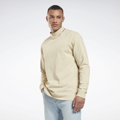 Männer Classics Classics Natural Dye Long-Sleeve Shirt Beige
