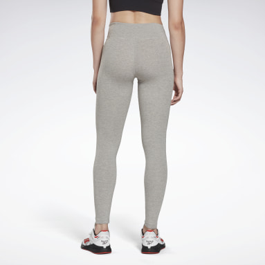 Women Fitness & Training Grey Reebok Identity Leggings