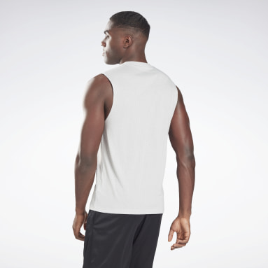 Men Fitness & Training Grey Workout Ready Mesh Sleeveless T-Shirt