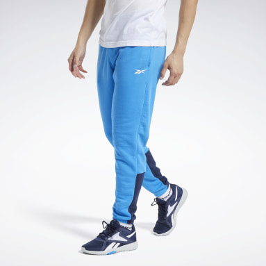 Jogger Training Essentials Linear Logo Azul Homem Fitness & Training