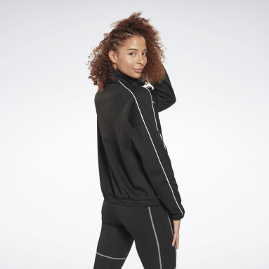 Kvinder City Outdoor Black Workout Ready 1/2 Zip Sweatshirt