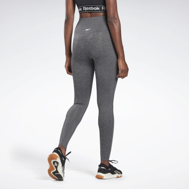 Women Yoga Grey Reebok Lux High-Rise Tights 2.0