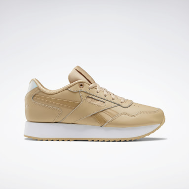 Women Classics Beige Reebok Classic Harman Run Ripple Double Shoes
