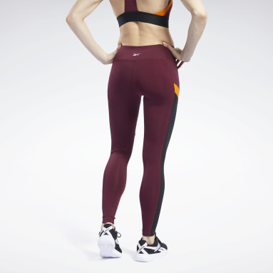 Women Fitness & Training Burgundy Workout Ready Mesh Tights