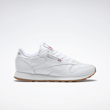 Women Classics White Classic Leather
