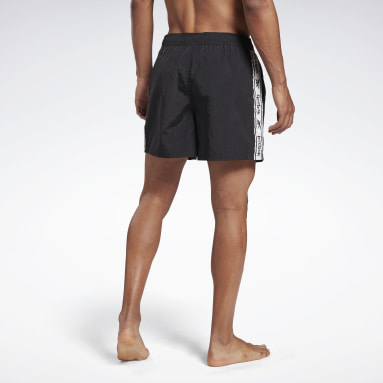 Men Swimming Black Reebok Wright Swim Shorts