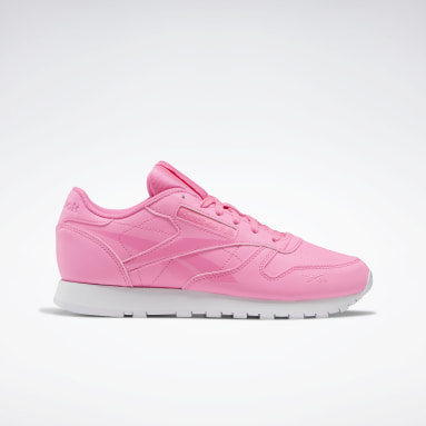 Women Classics Pink Classic Leather Women's Shoes