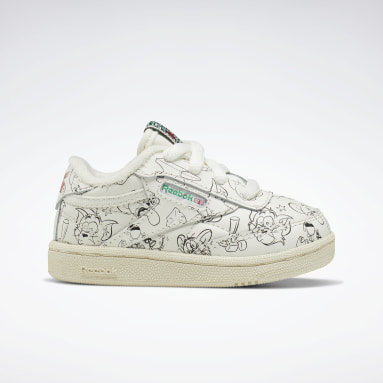 Kids Classics White Tom and Jerry Club C 85 Shoes